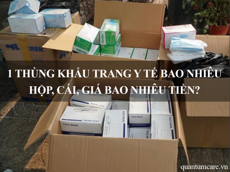 1 thùng khẩu trang y tế bao nhiêu hộp, cái, giá bao nhiêu tiền?