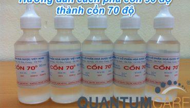 Hướng dẫn cách pha cồn 90 độ thành cồn 70 độ sát khuẩn, diệt khuẩn, khử trùng