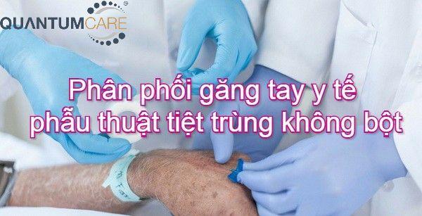 Phân phối Găng tay y tế phẫu thuật tiệt trùng không bột